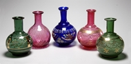 Picture of A group of five Venetian glass flasks