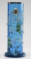 Picture of A fine Venetian blue glass cylindrical brush pot