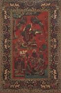 Picture of Kashmir Carpet depicting Shiva, Brahma & Vishnu