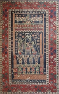 Picture of A very fine hand woven Egyptian pattern carpet