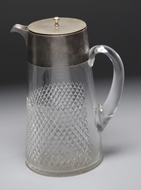 Picture of A large cut glass jug
