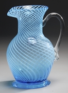 Picture of A Continental (Nailsea) glass jug