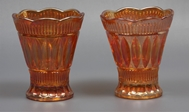 Picture of A pair of Carnival glass vases