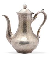 Picture of A Victorian silver coffee pot
