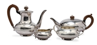 Picture of A silver four-piece tea and coffee service