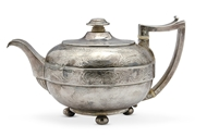 Picture of A George III silver teapot