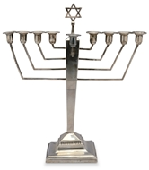 Picture of A silver menorah