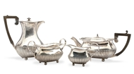 Picture of A matched silver four-piece tea service