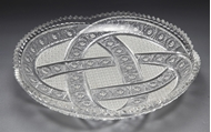 Picture of A heavily cut Bohemian cut glass round tray