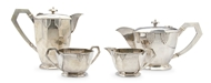 Picture of A four piece Art Deco tea service