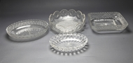 Picture of A group of four heavy cut glass bowls