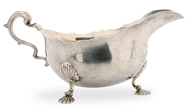 Picture of A silver sauce boat