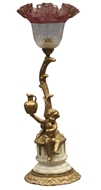 Picture of A Continental gold painted metal cast  table lamp