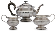 Picture of A George IV style three piece tea service
