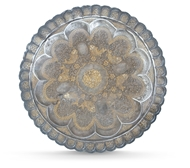 Picture of A gold plated Indian silver plate