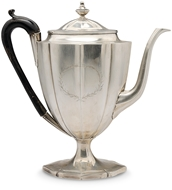 Picture of A George II silver kettle