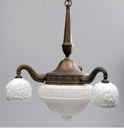 Picture of A French brass ceiling light