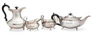 Picture of A silver four piece tea service