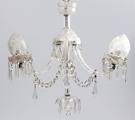 Picture of A two-arm Osler cut glass chandelier