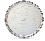Picture of A silver salver of shaped circular form