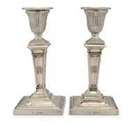Picture of A pair of Victorian candlesticks