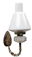 Picture of An Osler, brass wall fitting oil lamp