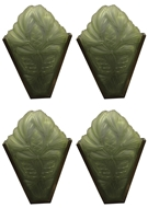 Picture of A set of four green art nouveau (Sabino) frosted wall light