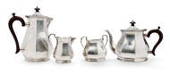 Picture of A silver four piece tea set