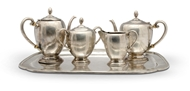 Picture of A stamped Sterling 925A, Peruvian silver five piece tea service