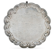 Picture of A silver presentation salver