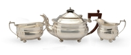 Picture of A silver three piece tea set