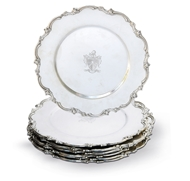 Picture of A set of six Hallmark sterling silver dinner plates
