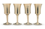 Picture of A set of four silver goblets