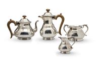 Picture of A silver four piece tea set