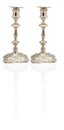 Picture of A pair of silver 18th century style candlesticks