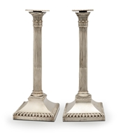 Picture of A pair of Victorian Corinthian column style candlesticks