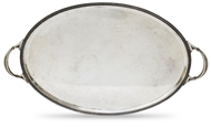 Picture of A silver twin handled tray