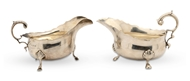 Picture of A pair of silver sauce-boats