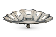 Picture of An Edwardian silver shell shaped dish