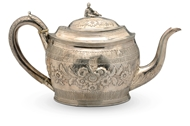 Picture of A George III silver tea pot