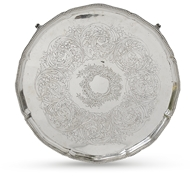 Picture of A George III silver salver
