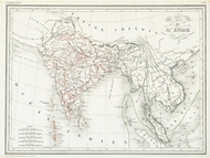 Picture of INDIA (Carte De L° Inde)