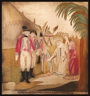 Picture of Tippoo Saib's Two Sons delivered up to Lord Cornwallis