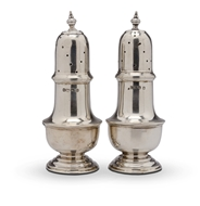 Picture of A pair of silver cruets