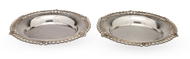 Picture of A pair of silver circular plates