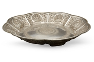 Picture of A circular Indian silver plate