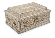 Picture of A very attractive hand carved Kutch Bhuj (India) silver jewellery chest