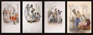 Picture of Four European prints published in 19th century on Indian themes