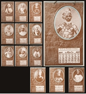 Picture of INDIAN MAHARAJAHS CALENDAR FOR 1910