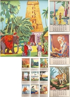 Picture of INDIAN PICTURES CALENDAR FOR 1936